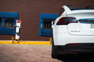 Tesla charging stations at El Cid Marina & Yates Club - Mazatlan, Mexico