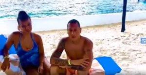 Katia and Felipe from New Jersey absolutely enjoying the island of Cozumel