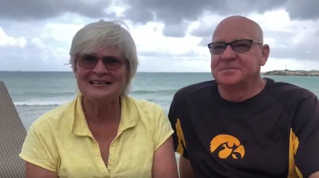 Mary & Terry Starry escape the cold and snow from Iowa & enjoy every second!