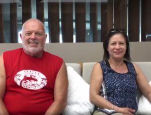 Friends that met at El Cid-Marty Sherin & Donna Brandt Vanblarcom
