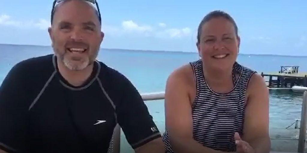 Matt & Jenny Casttle enjoying the island of Cozumel and all El Cid La Ceiba offers!